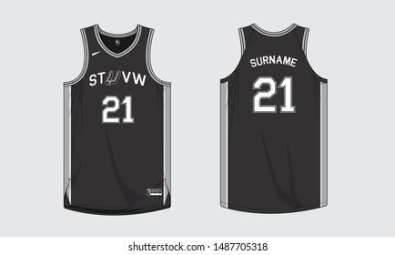 Basketball jersey uniform template sports apparel
