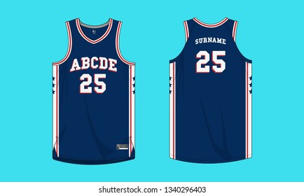 Basketball jersey uniform template vector