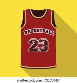 Basketball jersey.Basketball single icon in flat style vector symbol stock illustration web.