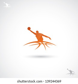 Basketball label - vector illustration