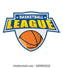 Basketball League Badge Design