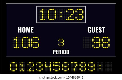 Basketball LED digital scoreboard