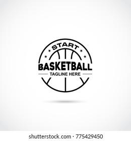 Basketball Logo Design. Vector Illustrator Eps. 10