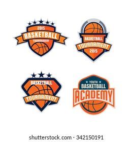 Basketball logo template collection,vector illustration