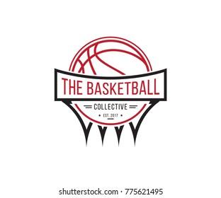 Basketball Logos, American Logo Sports, basketball team emblem vector