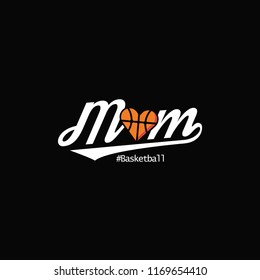 basketball mom with heart