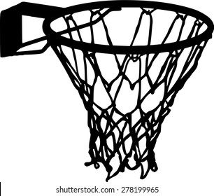 Basketball Net Basket Details Vector