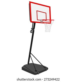 Basketball net and hoop. Realistic street ball stand.