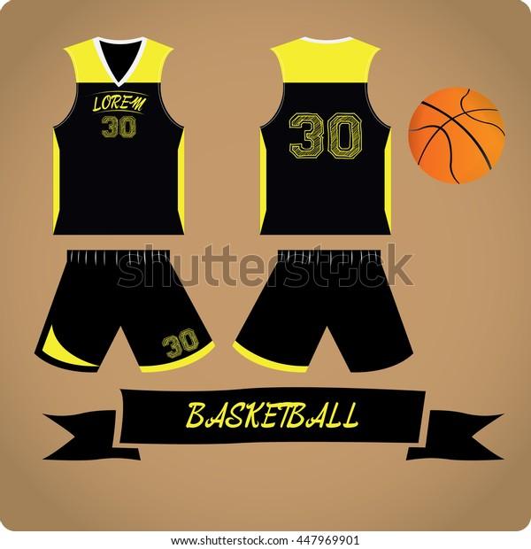 Basketball objects, Sport uniform, Vector illustration