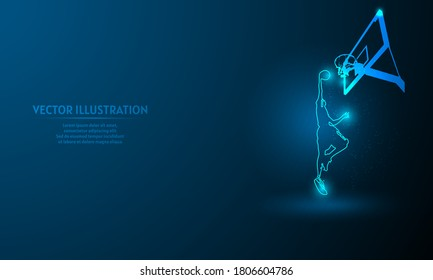 basketball on blue abstract background. simple blue background. Starlight background