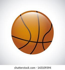 basketball over gray background vector illustration