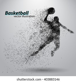 Basketball particles. Text and background on separate layers all can be easily edited