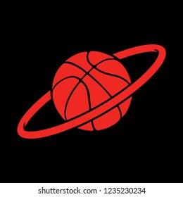 Basketball planet vector illustration