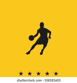 Basketball player icon.