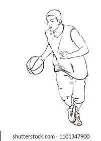 basketball player playing
