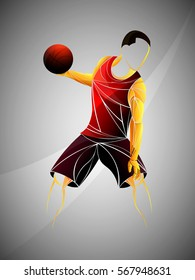 basketball player red vector