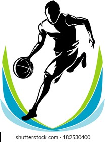 Basketball Player Silhouette Abstract