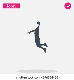 Basketball player silhouette icon.