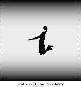 Basketball player silhouette illustration.