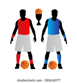 basketball player vector illustration
