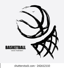 basketball poster design, vector illustration eps10 graphic