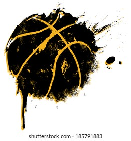 Basketball Print - suitable for posters, flyers, brochures, banners, badges, labels, wallpapers, web design, advertising, publicity or any branding.