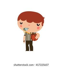 basketball referee kid.