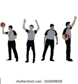 basketball referee, vector
