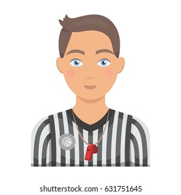 Basketball referee.Basketball single icon in cartoon style vector symbol stock illustration web.