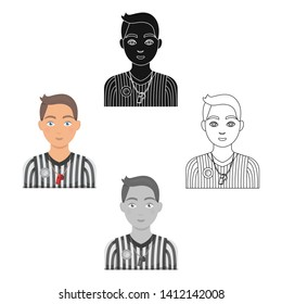 Basketball referee.Basketball single icon in cartoon,black style vector symbol stock illustration web.