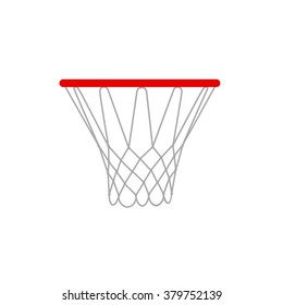 A  basketball rim and net  Basketball hoop vector illustration isolated on a white background