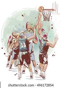 Basketball Scene