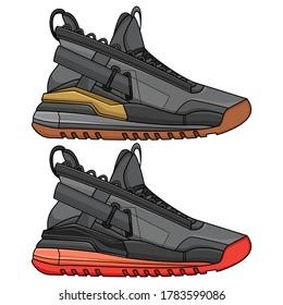 basketball shoes, vector EPS 10