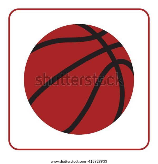 8672e7e7d46e2 Basketball Sign Basket Ball Icon Orange Stock Vector (Royalty Free ...