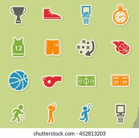 Basketball simply symbol for web icons and user interface