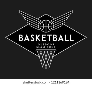 Basketball slam dunk white on black is a vector illustration about sport