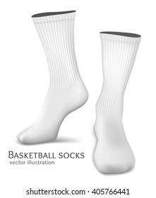 Basketball socks. Fully editable handmade mesh. Vector illustration.
