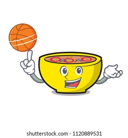 With basketball soup union character cartoon