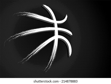 Basketball sport ball, vector