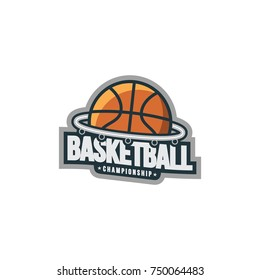 Basketball sport emblem logo vector