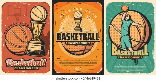 Vintage Basketball Poster Images, Stock Photos & Vectors