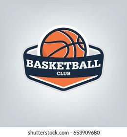 Basketball sport logo template design, vector illustration