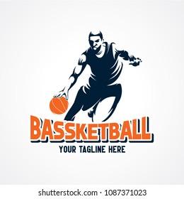 Basketball Sport Silhouette Logo Designs Template