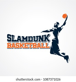 Basketball Sport Silhouette Logo Designs Template