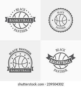 Basketball sport team emblems and symbols.