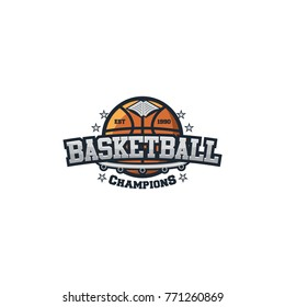 Basketball sport team logo vector