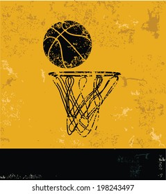 Basketball symbol,grunge design