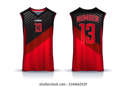 19e3552df54 Basketball tank top design template, Sport jersey mockup. uniform front and  back view.