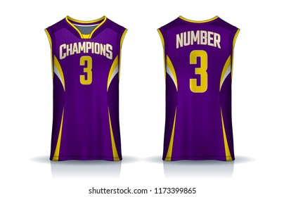 8c47714911b Basketball tank top design template, Sport jersey mockup. uniform front and  back view.