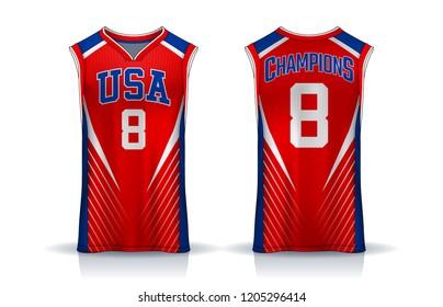 Basketball Tank Top Design Template Sport Stock Vector Royalty Free
